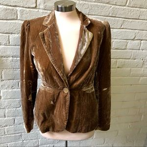 Premise (Nordstrom) brown crushed velvet blazer, 4